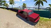 Spike Strip Crashes #3 - Dummy Crash testing   BeamNG drive (dummy camouflage crashes, nodegrabb