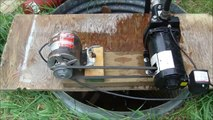Water pump converted to belt drive, (well jet pump) Ho