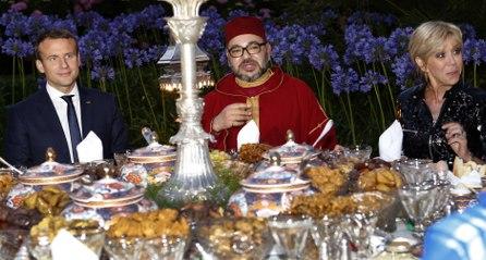 Macron en visite au Maroc