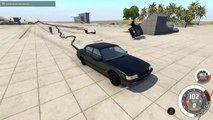 2 CARS 1 POLE! - BeamNG Drive Clotheslining Cars With A Cha