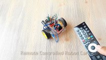 Arduino Project 14  Remote Controlled Robot Car (TV - Infrared Remote