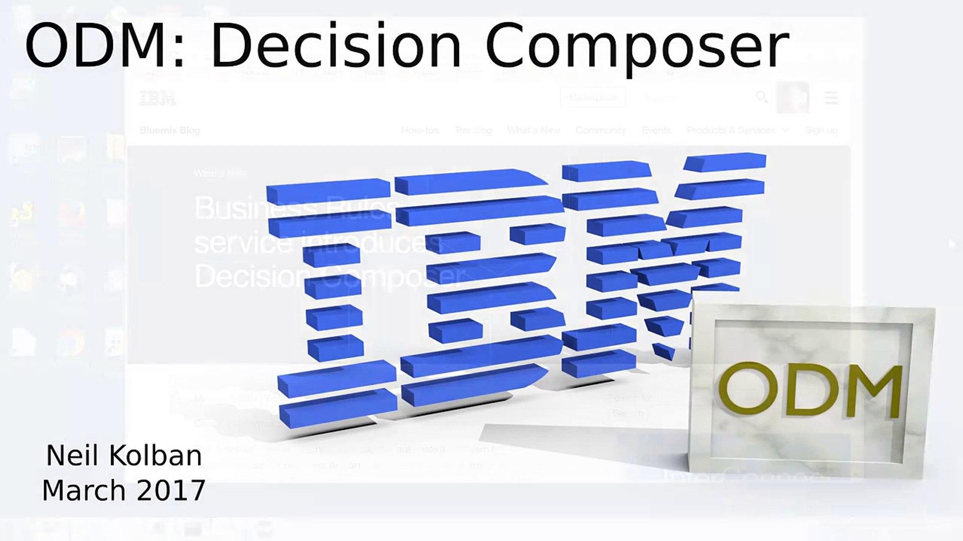 ODM Technical Tutorials  Decision
