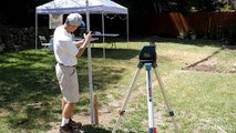 Bosch GLL 150 ECK 360° Self-Leveling Exterior Laser Kit Review and Demonstr