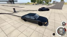 2 CARS 1 POLE! - BeamNG Drive Clotheslining Cars With A C