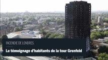 Incendie de Londres : des habitants de la tour Genfeld témoignent