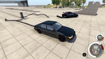 2 CARS 1 POLE! - BeamNG Drive Clotheslining Cars With