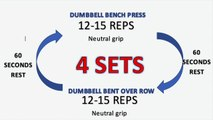 FAT BURNING UPPER BODY WORKOUT   Full Workout and Exp