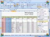 MS Excel 2007 Tutorial in Hindi   Home Tab Cells Block Insert,Delete,F