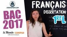 Bac L 2017 : corrigé de français (dissertation)