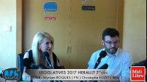 ELECTIONS LEGISLATIVES 2017 - 2 ° TOUR - DEBAT - Myriam ROQUES ( FN ) Christophe EUZET ( REM )