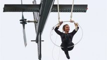 Erendira Wallenda Hangs By Her Teeth From A Helicopter
