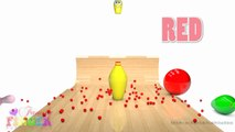 Learn Colors with Bowling Balls for Children, Toddlers Learn Colours for Kids With Bowling Balls