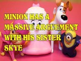 Toy MINION HAS A MASSIVE ARGUEMENT WITH HIS SISTER SKYE + MAX GIDGET TSLOP PAW PATROL