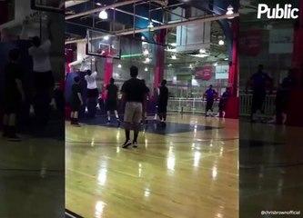 Vidéo : Chris Brown : bientôt basketteur en NBA ?