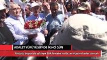 CHP'nin Adalet Yürüyüşü ikinci gününde
