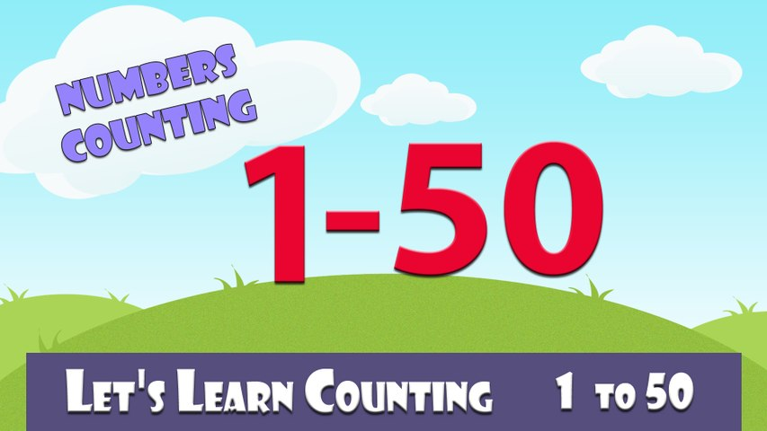 Learn To Count 1 to  50 | Numbers Counging to 50 | Learn Counting 1-50 In English For Kids