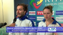 European Diving Championships-Kyiv- Noemi BATKI, Maicol VERZOTTO (ITA) - Bronze medalists of Synchronised Platform Mixed