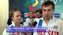 European Diving Championships - Iuliia TIMOSHININA, Viktor MINIBAEV (RUS)- Silver medalists of Synchronised Platf. Mixed