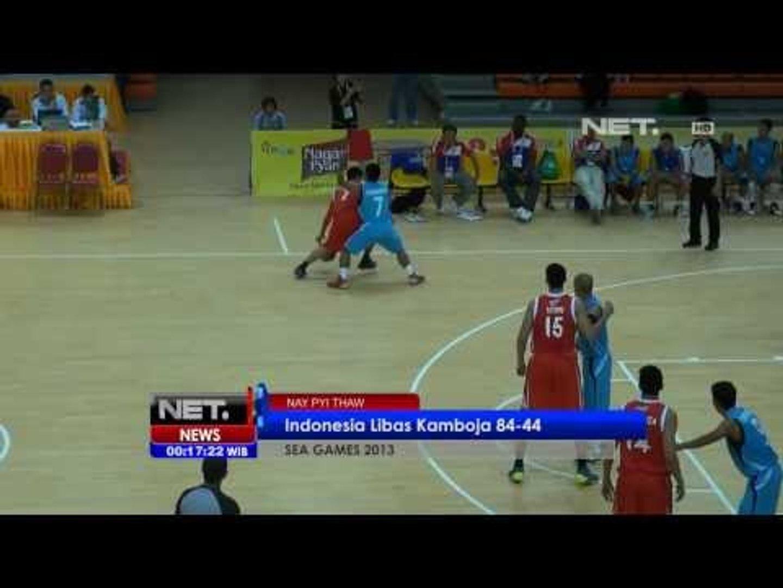 Net24 - Tim Basket Indonesia menang telak dari kamboja di Sea Games Myanmar 2013