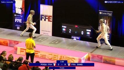 FDJ - Sabre hommes - Finale Sans / Pogu - Tireurs nés en 2002