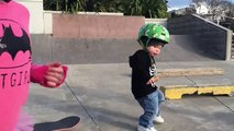 Amazing Little Boy Rides Skateboard At Skate Park Video 2017  YT