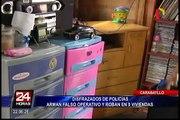 Delincuentes vestidos de policías arman falso operativo para asaltar 9 viviendas