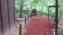 Cet ado s'est fabriqué des montagnes russes dans son jardin - Roller coaster maison