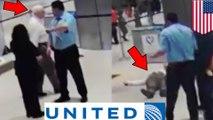 Karyawan United Airlines mendorong kakek-kakek, terekam kamera - Tomonews
