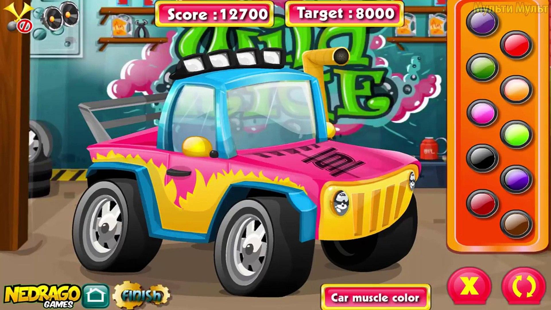 Sports Car Factory   Videos for Kids   Videos For Children   Garage Repair Sport Car for Kids Game