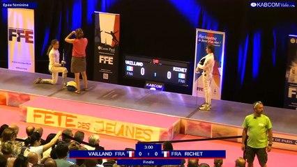 FDJ - Finale Epee Femmes Camille Richet vs Soline Vailland