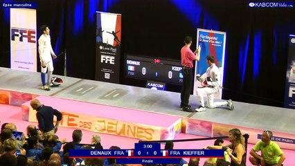 FDJ - Finale Epee Hommes Tom Kieffer vs Mael Denaux