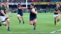 Essai de Damian Penaud contre les Springboks
