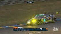 24 Heures du Mans: L'Aston Martin #98 victime d'une crevaison perd sa place LMGTE Am
