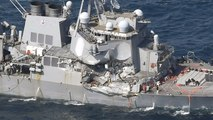 Missing sailors found dead after U.S. Navy destroyer collides with merchant ship