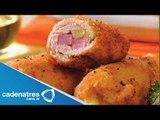 Receta de Rollitos de Huevo y Tocino / Receta de cómo preparar rollitos de Huevo y Tocino