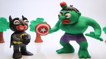 BATMAN Steals Captain America's Shield - Superhero Prank Videos PLAY DOH Stop Motion Cartoons