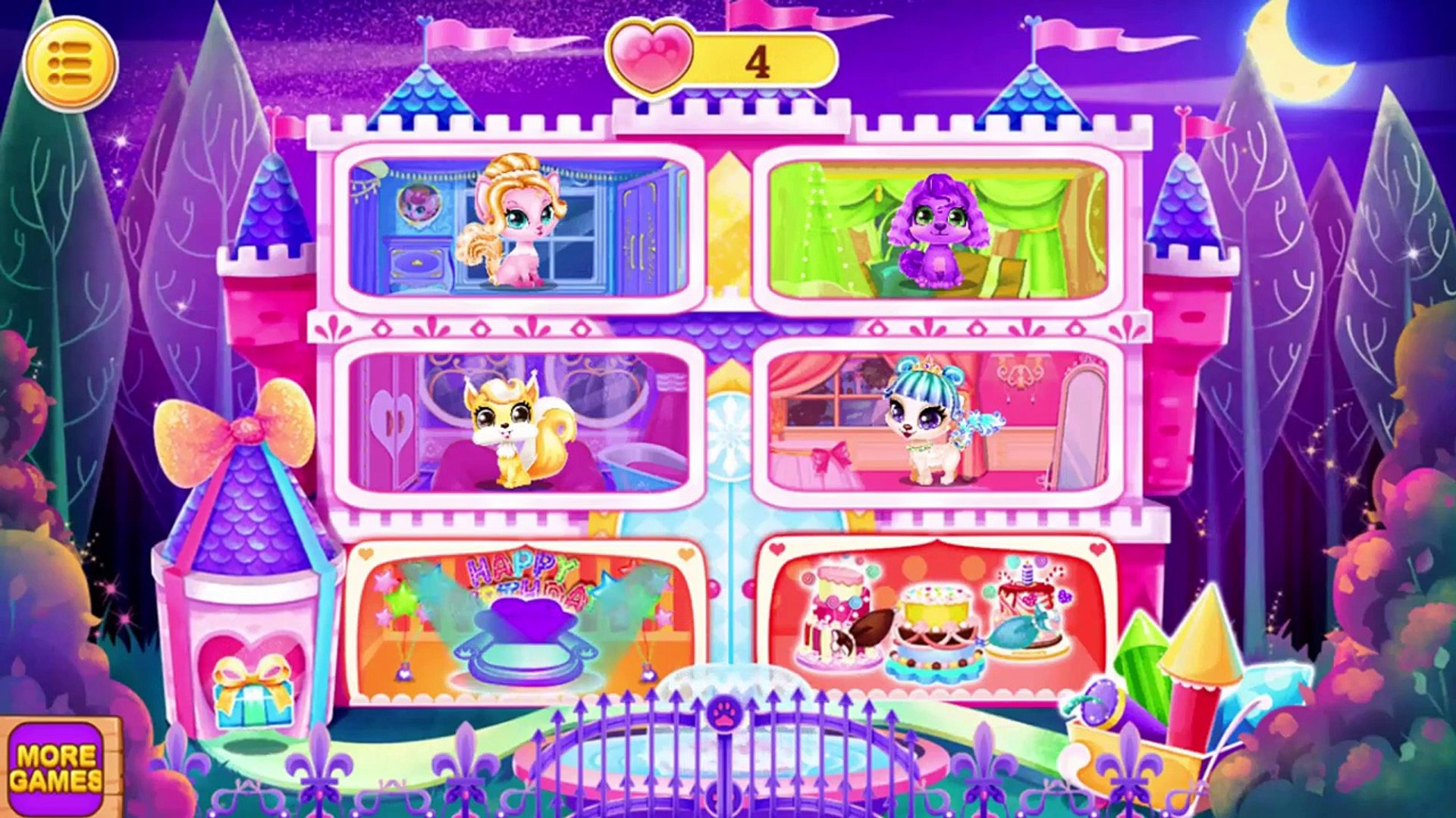 Fun Pet Baby Care - Pet Salon - Princess Pet Royal Birthday Party _ Bath, Dress Up Kids Play Game