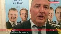 """Législatives 2017 2e tour. Brest rural : D. Le Gac (LREM, élu) : """"un score qui nous engage"""""""