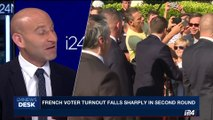 i24NEWS DESK | French voter turnout falls sharply in second round | Sunday, June 18th 2017