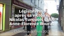 VIDEO. Châtellerault. Législatives : après sa victoire, Nicolas Turquois (LREM) salue Anne-Florence Bourat (LR-UDI)