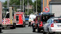 Fuite de gaz à la rue Saint-Laurent à Manage