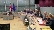 David Davis all smiles as Brexit talks begin in Brussels