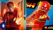 Lego Flash, Arrow, Supergirl and Legends - Characters Side by Side (CW Shows vs Lego)