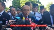 """Champs-Elysées : le ministre de l'Intérieur Gérard Collomb évoque une """"tentative d'attentat"""""""