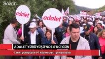 Adalet Yürüyüşü altıncı gününde