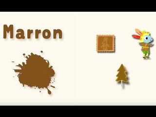 Apprendre les couleurs avec Pinpin et Lili - Le marron