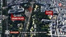 Minute par minute l'attentat à la voiture piégée sur les Champs Elysée