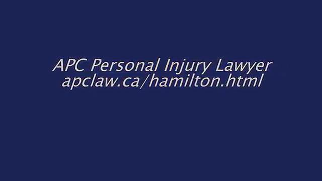 Injury Lawyer Hamilton ON – APC Personal Injury Lawyer (800) 931-7036