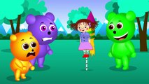 My cute Gummy Bear bully on baby rescue from fireman truck finger family rhymes and songs