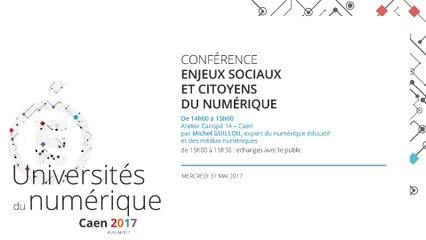 Conférence : Enjeux sociaux et citoyens du numérique